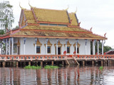 A temple in a floating village on Tonle Sap Lake - Siem Reap Province, Cambodia