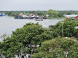 Floating village in the flooded forest/wetlands next to Tonle Sap Lake - Siem Reap Province, Cambodia
