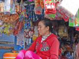Vendor (from previous photo) in her floating store on Tonle Sap Lake - Siem Reap Province, Cambodia