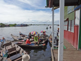 After lunch we got into these sampans to explore more of the floating village on Tonle Sap Lake, Siem Reap Province, Cambodia