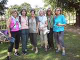Left to right: Janet, Judy, Carole, Helen, Fran and Stacy when we visited our young ladies (high school students)