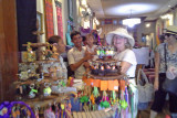 Helen and Sally  - our last shopping spree before leaving for home - Siem Reap, Cambodia