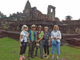 The ladies of the Women for Women Group at the Bakong Temple in Angkor, Siem Reap Province, Cambodia