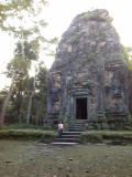 Judy at a temple in the Pre-Angkorian Hindu temple complex of Sambor Prei Kuk - in the Kompong Thom Province, Cambodia