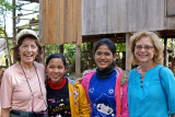 Judy and Stacy with two of our sponsored young ladies (high school students) - rural village