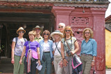Close-up of our group at one end of the Japanese Bridge - Hoi An, Vietnam