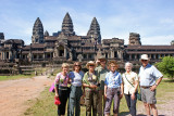 Our group (minus Sally who is taking the photo)  at stunning Angkor Wat - Angkor, Siem Reap Province, Cambodia