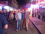 Ken, Elliott and Jerry on Bourbon Street in the French Quarter of New Orleans on Saturday night
