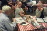 Jerry, Ken and Elliott - dinner at Prejean's in Lafayette - southwestern Louisiana. Is Ken displaying his massive biceps? :-)