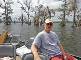 Ken in a boat on Lake Martin in southwestern Louisiana