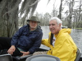 Jerry and Richard in a boat on Lake Martin in southwestern Louisiana