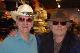 Ken and Richard (both looking svelte?) - trying on hats in a hat store in the French Quarter of New Orleans