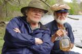 Norbert (showing his home stuff) and Richard on Lake Martin in southwestern Lousiiana