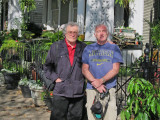Elliott and Richard in the Garden District of New Orleans