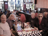 Ken, Elliott, Jerry and Richard - lunch at the Acme Oyster House in the French Quarter of New Orleans