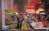The kitchen at the Acme Oyster House in the French Quarter of New Orleans