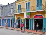 Ken and Elliott strolling on Bourbon Street in the French Quarter of New Orleans
