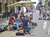 A street band in the French Quarter of New Orleans