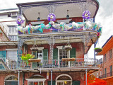 Decorative balconies in the French Quarter of New Orleans
