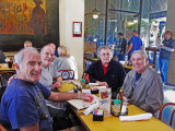 Elliott, Ken, Jerry and Richard in the Gumbo Shop in the French Quarter of New Orleans