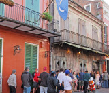 We heard a fine jazz group at Preservation Hall (light colored building) in the French Quarter of New Orleans