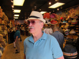 Ken definitely looking svelte while trying on a hat in a hat store in the French Quarter of New Orleans