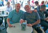 Ken and Elliott at Cafe Du Monde in the French Quarter of New Orleans