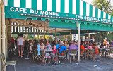 Cafe Du Monde in the French Quarter of New Orleans - here we ate superb beignets covered with a ton of sugar powder