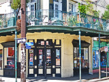 The corner of Charles and Frenchmen Streets just outside the French Quarter in New Orleans