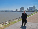Richard in New Orleans near the Mississippi River