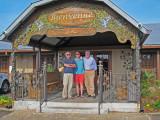 Elliott, Ken and Jerry in front of Prejean's in Lafayette - southwestern Louisiana