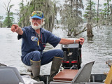 Norbert - our private guide on Lake Martin in southwestern Louisiana. He has been hunting alligators for decades.