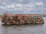 Close-up of a duck blind on Lake Martin in southwestern Louisiana