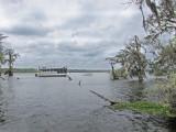Floating hotel (no longer open) on Lake Martin in southwestern Louisiana
