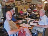 Ken, Elliott and Jerry in Chez Jacqueline's (French and Cajun cuisine) in Breaux Bridge in southwestern Louisiana