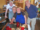 Jacqueline (friendly with Richard :-)) with Jerry and Elliott in Chez Jacqueline's in Breaux Bridge in southwestern Louisiana