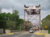 Rusted but attractive bridge over the Bayou Teche in Breaux Bridge in southwestern Louisiana