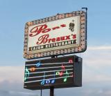 Sign outside Pont Breaux's Cajun Restaurant in Breaux Bridge in southwestern Louisiana