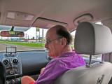 Ken navigating to Pont Breaux's Cajun Restaurant in Breaux Bridge in southwestern Louisiana