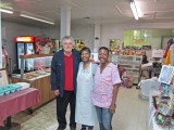 Richard with two staff members of the Old Country Store Restaurant in Lorman, southern Mississippi - we ate lunch here