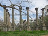 Windsor Ruins - remains of a pre-Civil War mansion - off a back road in Port Gibson, Claiborne County - southern Mississippi