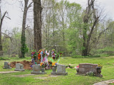 A burial at an old, local cemetery off a back road in Port Gibson, Claiborne County - southern Mississippi
