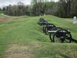 Cannons at Battery DeGolyer - a battlefield site of the siege of Vicksburg - Civil War: Vicksburg National Military Park