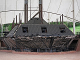 Remains of the Union's U.S.S. Cairo gunship in the U.S.S. Cairo Museum in the Vicksburg National Military Park, Mississippi