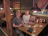 Ken and Elliott - dinner at Corkys Ribs and BBQ in Memphis, Tennessee (gotta have barbecue in Memphis)