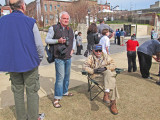 Elliott and Tom (Ken facing away) at the reopening ceremony of the National Civil Rights Museum at the Lorraine Motel