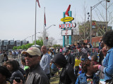 People attending the reopening ceremony of the National Civil Rights Museum at the Lorraine Motel in Memphis, Tennessee