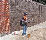 A street performer on South Main Street in Memphis Tennessee
