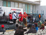 Musical entertainment at the reopening of the National Civil Rights Museum at the Lorraine Motel in Memphis, Tennessee