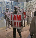 Exhibit of the Memphis Sanitation Strike of 1968 at the National Civil Rights Museum at the Lorraine Motel in Memphis